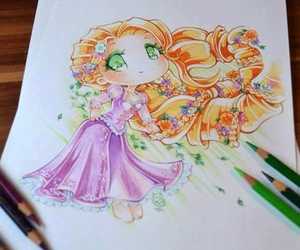 disney, art, and rapunzel image