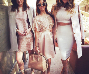 kylie jenner, kourtney kardashian, and khloe kardashian image