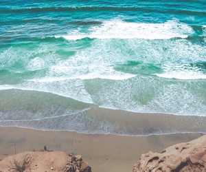 summer, ocean, and waves image
