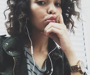 Afro, curly, and curly hair image