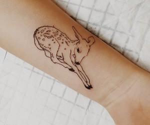 tattoo, bambi, and deer image