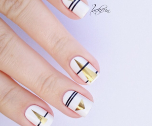 gold, nail art, and nails image