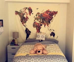 indie, world map, and wall tapestry image