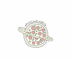 girly, planet, and pizza image