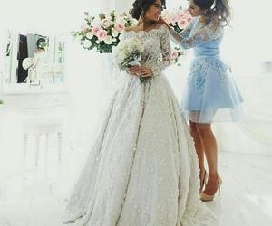 wedding, love, and bride image