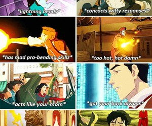 avatar, mako, and fire bender image