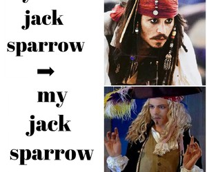 disney, jack sparrow, and ross image