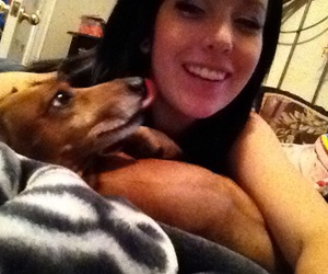 best friend, dachshund, and my baby image