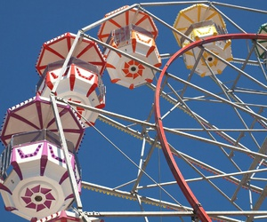 amusement, wheel, and colors image