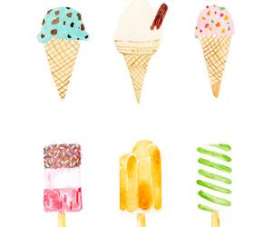 ice cream, drawing, and icecream image