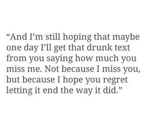 breakup, i miss you, and quote image