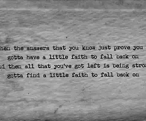faith, Lyrics, and strong image
