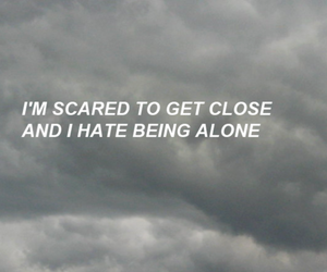quotes, grunge, and alone image