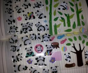 panda, stikers, and bambu image