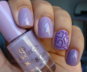 nails, purple, and essence image