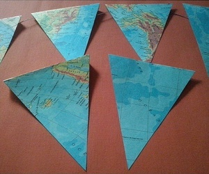 bunting, diy, and maps image