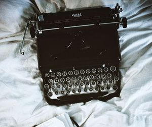book, vintage, and typewriter image