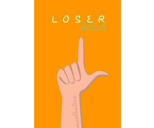 bitch, loser, and orange image