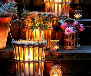 light, flowers, and candles image