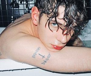 bath, boy, and model image