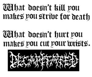 Lyrics and decapitated band image