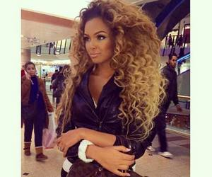 curly, hair, and style image
