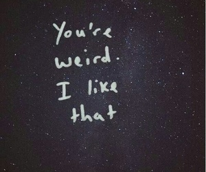 weird, quotes, and stars image