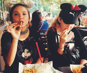 disney, stella hudgens, and frenchfries image