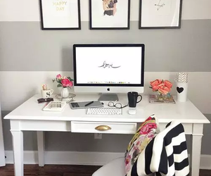 home, room, and desk image