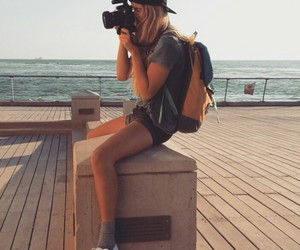 backpack, camera, and photographer image