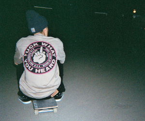 boy, skate, and grunge image