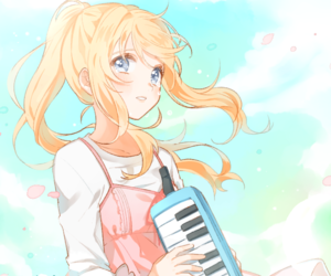 anime, anime girl, and your lie in april image