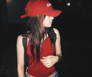 girl, maggie lindemann, and red image