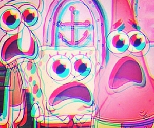 spongebob, patrick, and drugs image