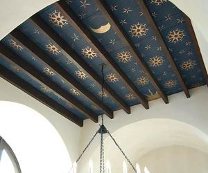 ceiling, moon, and stars image