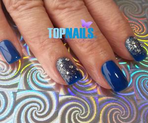 acrylic nails, nail design, and heart image