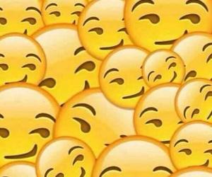 smile, emoji, and background image