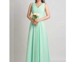 mint, mint dress, and bridesmaid dress image