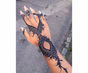 henna, tattoo, and beauty image