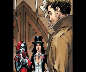 harley quinn, injustice, and john constantine image