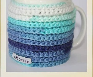 crochet, mug, and heart image