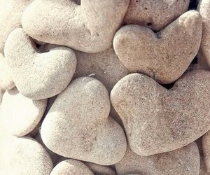 heart, hearts, and rock image