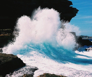 big, blue, and ocean image
