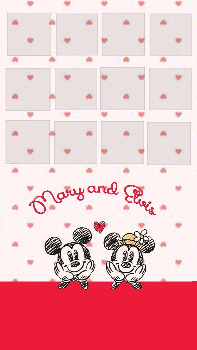 Wallpaper Iphone Minnie And Mickey Mouse On We Heart It