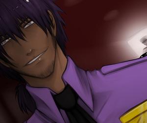 mike, purple guy, and fnaf image