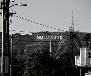 b&w, hollywood, and l.a. image