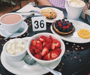 cafe and strawberry image