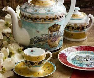 girly, vintage, and tea image