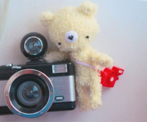 camera, dolls, and yellow image