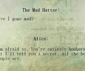 alice, quote, and mad hatter image